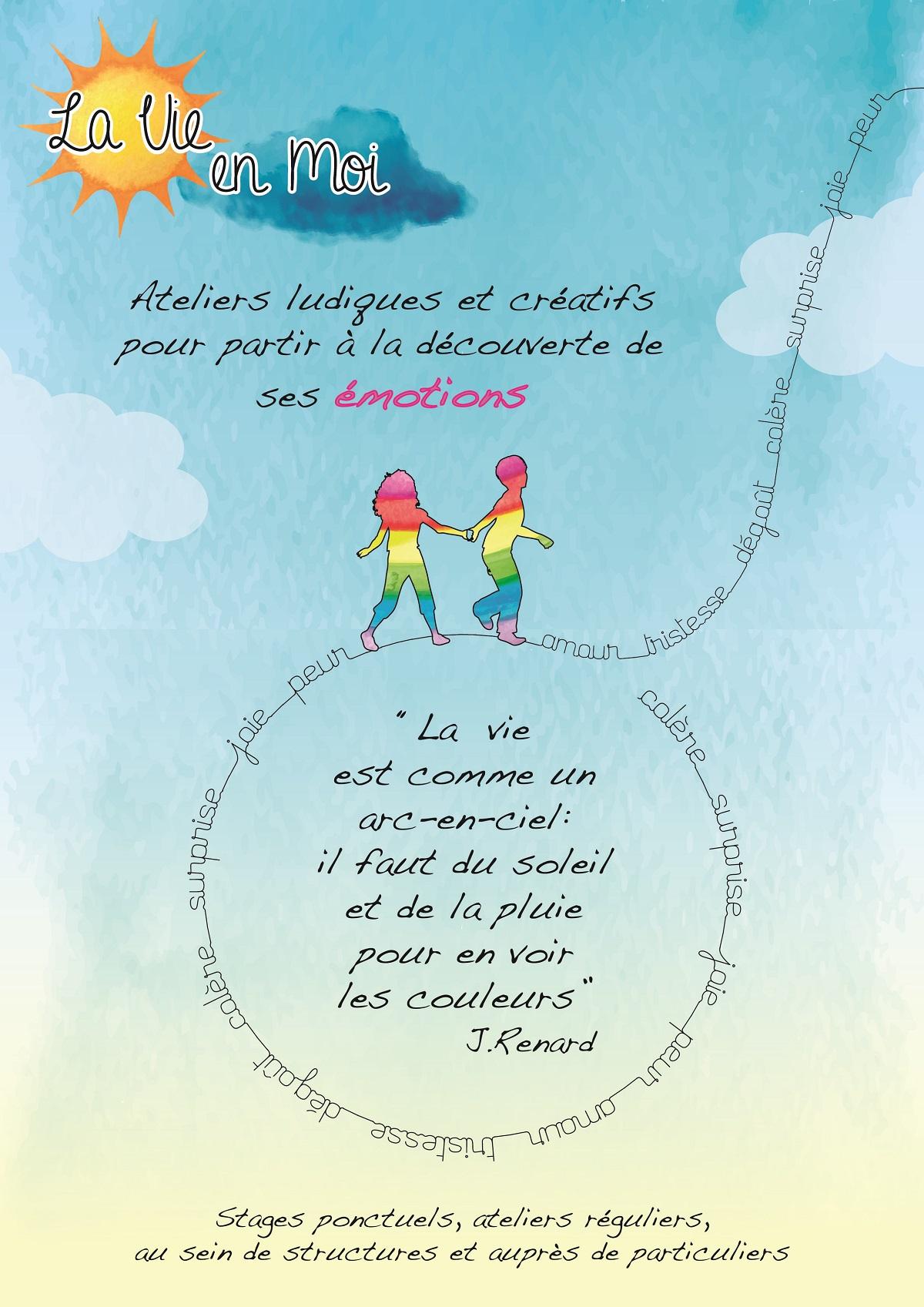 Ateliers et stages découverte des émotions. La Vie en moi. Activités enfants. Vacances scolaires. Lyon